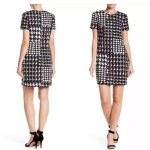 Trina Turk Zap Houndstooth Print Knit Dress